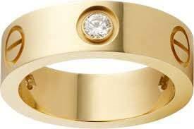 18K/750 Yellow Gold CARTIER Style Eternity Diamond Band