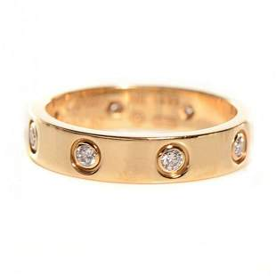 18 K Yellow Gold CARTIER Style Eternity Diamond Band