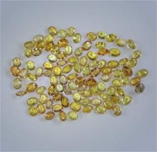 24.14 ct. Yellow Orange Sapphire Lot - SRI LANKA