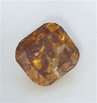 IGI Cert. 0.52 ct. Brown Orange Diamond - UNTREATED