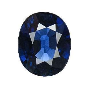 GIA Certified 2.01 ct. Blue Sapphire - BURMA, MYANMAR