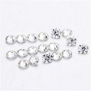 Set of 18 - 0.36ct. Round Brilliant Diamond Lot - G-H/I