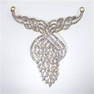 IGI Certified 18 K / 750 Yellow Gold Diamond Pendant