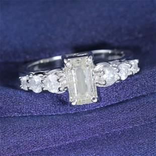 IGI Certified 14 K White Gold Solitaire Diamond Ring