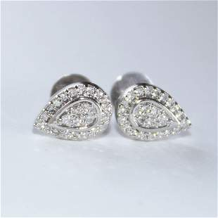 18 K / 750 White Gold Diamond Earring Studs