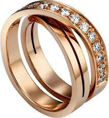 18 K / 750 Rose Gold CARTIER Style Diamond Ring