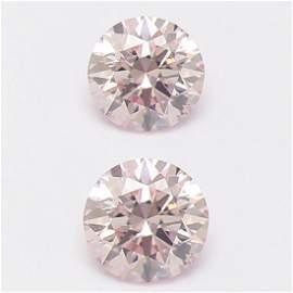 Set of 2 - 0.08ct. Light Pink Diamonds UNTREATED