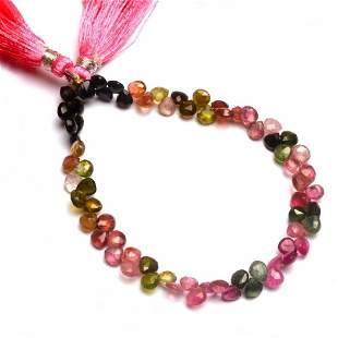 48.00 ct. Multi color Tourmaline Bead Strand Necklace