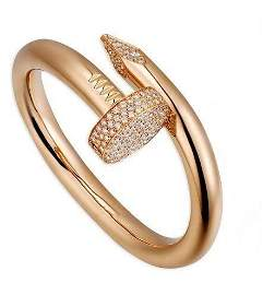 14 K Rose Gold CARTIER Style Nail head Diamond Ring