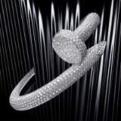 14K White Gold Cartier Style Nail head Diamond Bracelet