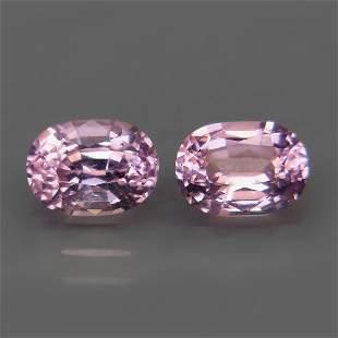 1.56 ct. Pair of Lavender color Spinels - BURMA,MYANMAR