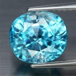 3.58 ct. Natural Blue Zircon - CAMBODIA