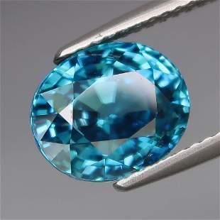 IGI Certified 5.37 ct. Natural Blue Zircon - CAMBODIA