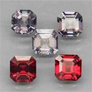 1.63 ct. Set of 5 Fancy color Spinels - BURMA, MYANMAR
