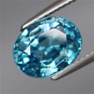 IGI Certified 5.33 ct. Natural Blue Zircon - CAMBODIA