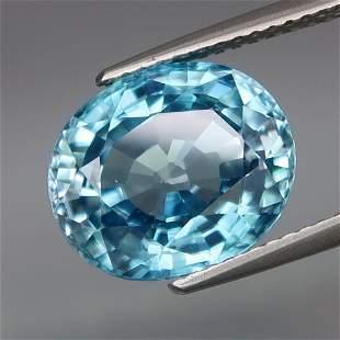 8.14 ct. Natural Blue Zircon - CAMBODIA