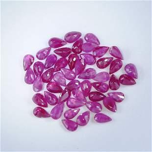 11.05 ct. Pear Shape Ruby Lot - BURMA, MYANMAR