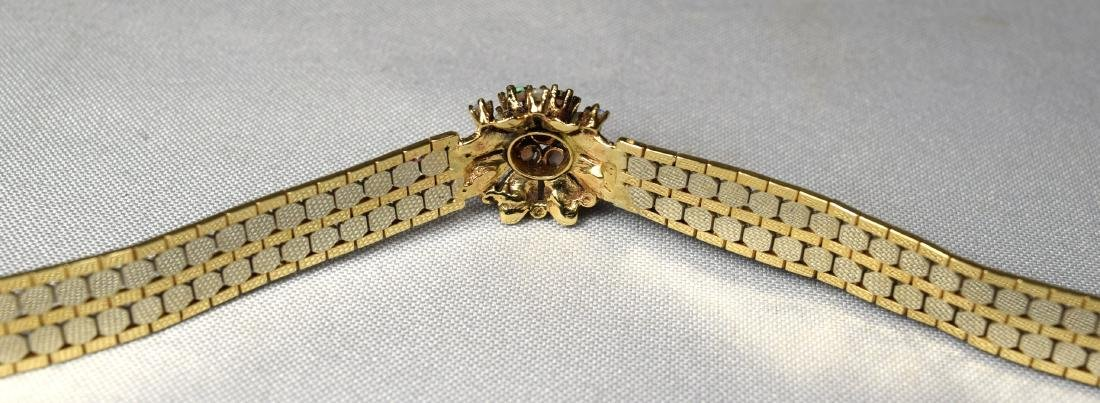 14KT TWO TONE GOLD BRACELET with OPAL & GOLD DOME RING - 3