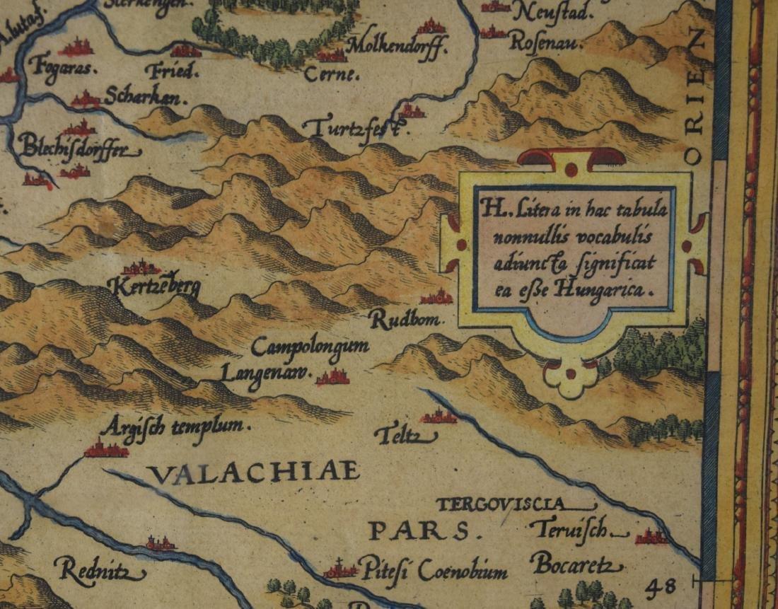 16TH C. MAP OF TRANSILVANIA/ROMANIA: - 4