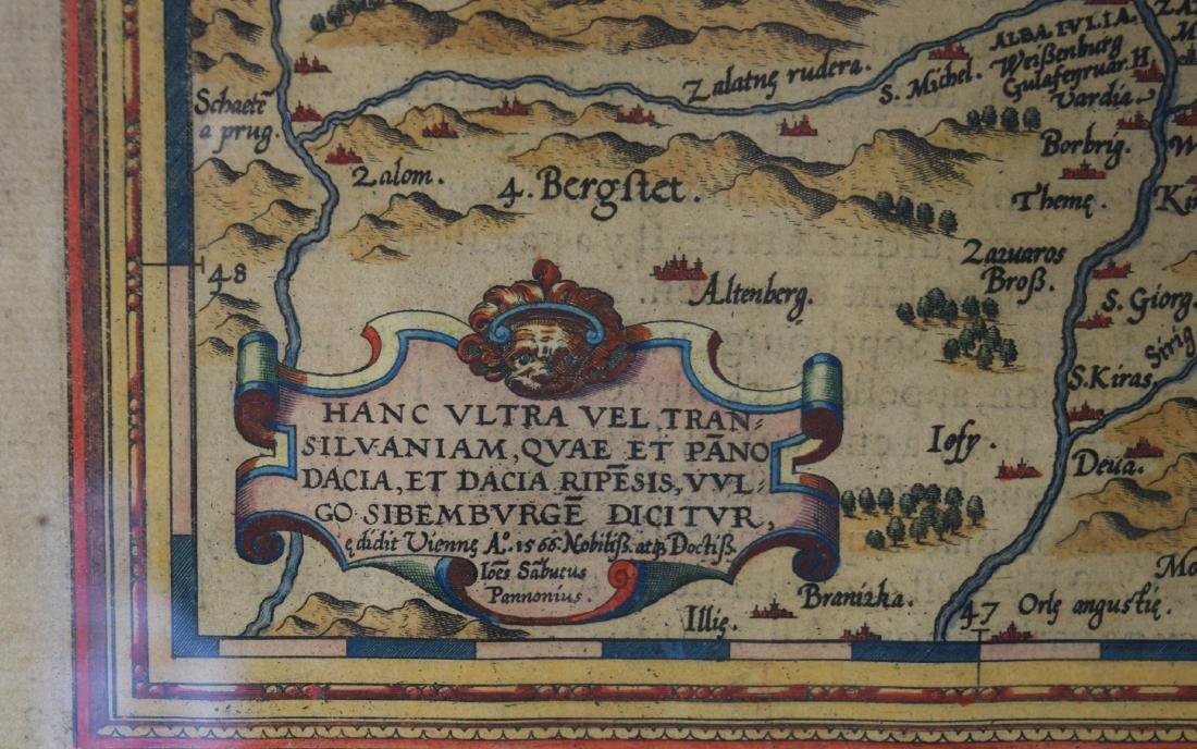 16TH C. MAP OF TRANSILVANIA/ROMANIA: - 5