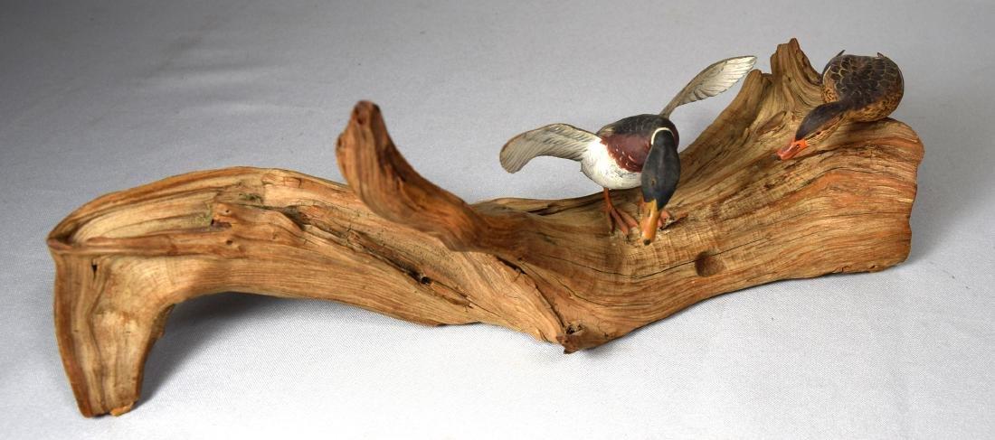 MINIATURE MALLARDS BIRD CARVING BY ROY MURPHY: