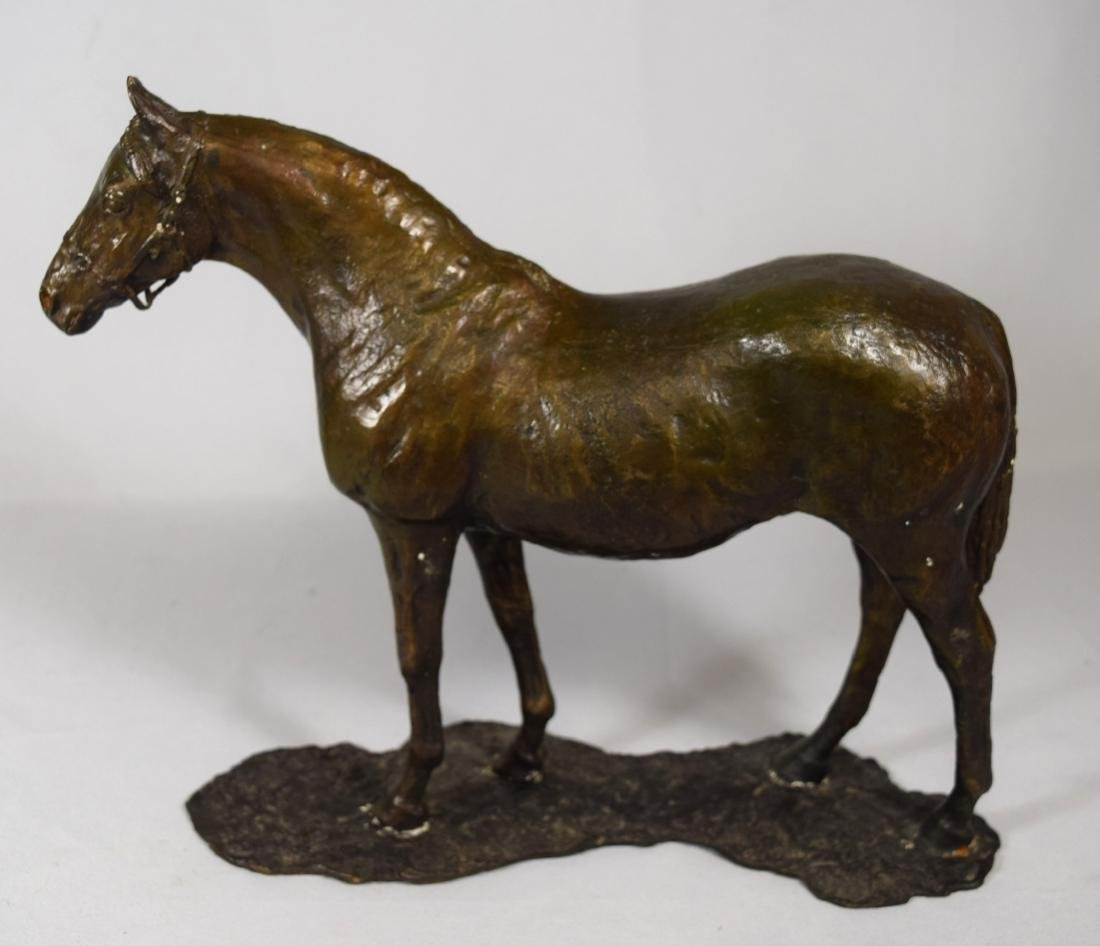 BRONZE HORSE SCULPTURE: