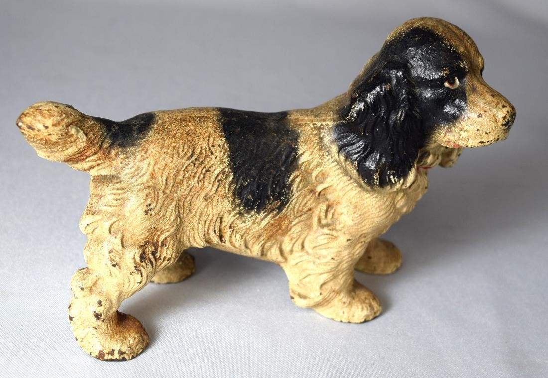 HUBLEY CAST IRON COCKER SPANIEL DOOR STOP: