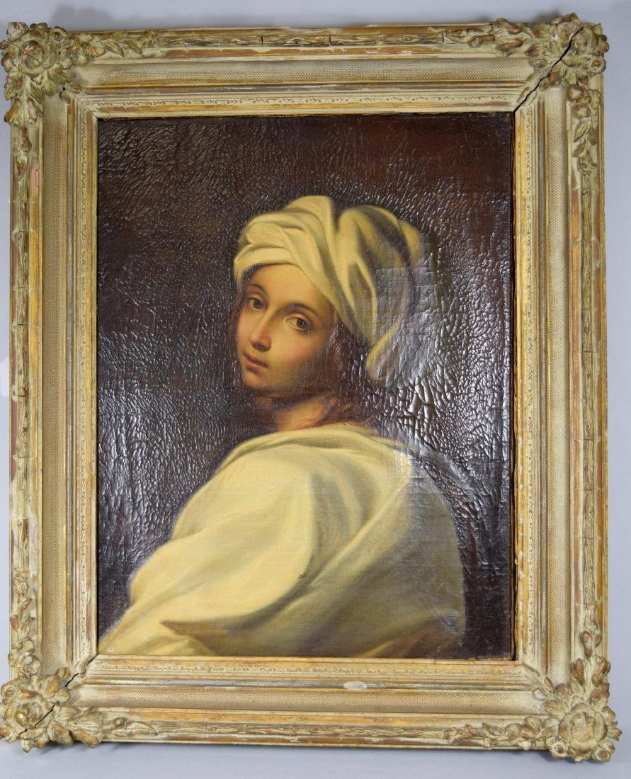 19TH C GRAND TOUR PORTRAIT OF A YOUNG GIRL WITH A HEAD
