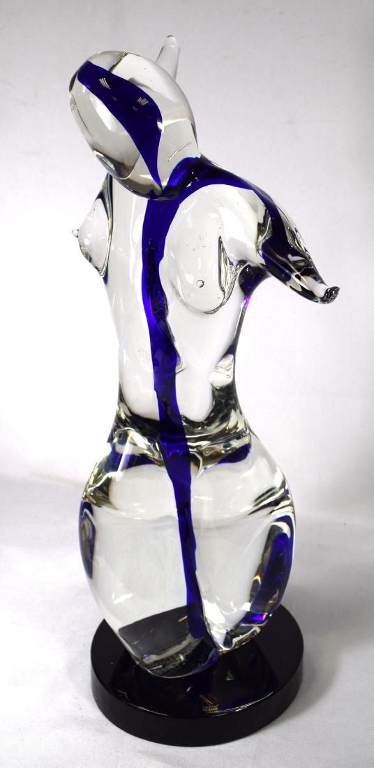 VETRO ARTISTICO MURANO ART GLASS NUDE SCUPTURE: