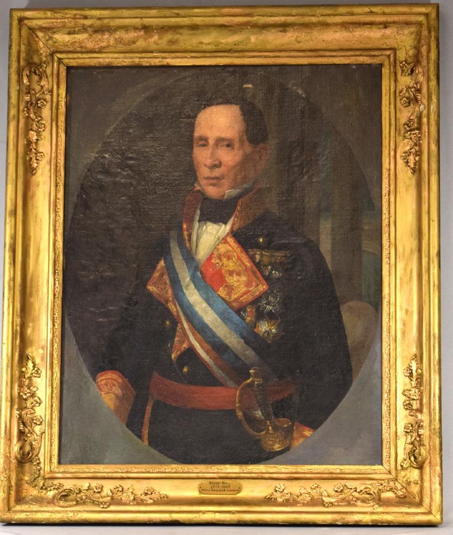 LARGE PORTRAIT OF FERDINAND VII, KING OF SPAIN by