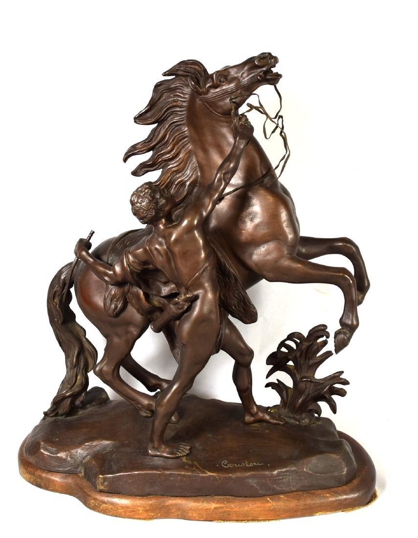 AFTER COUSTOU BRONZE MARLEY HORSE