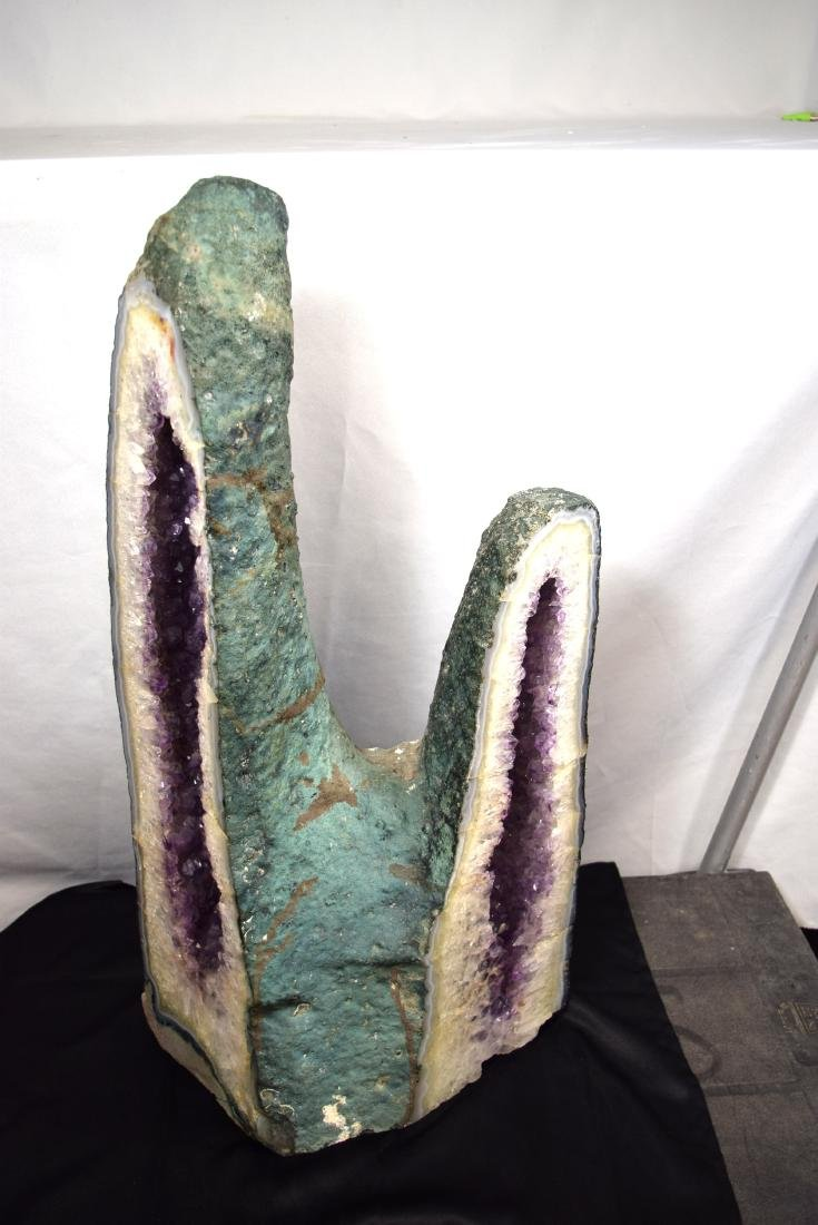 NATURAL SOUTH AMERICAN AMETHYST GEODE DOUBLE CATHEDRAL
