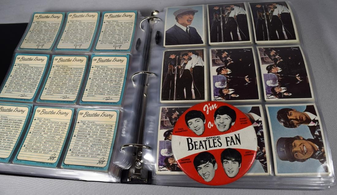 APPROXIMATELY 523 BEATLES TRADING CARDS COLLECTION from