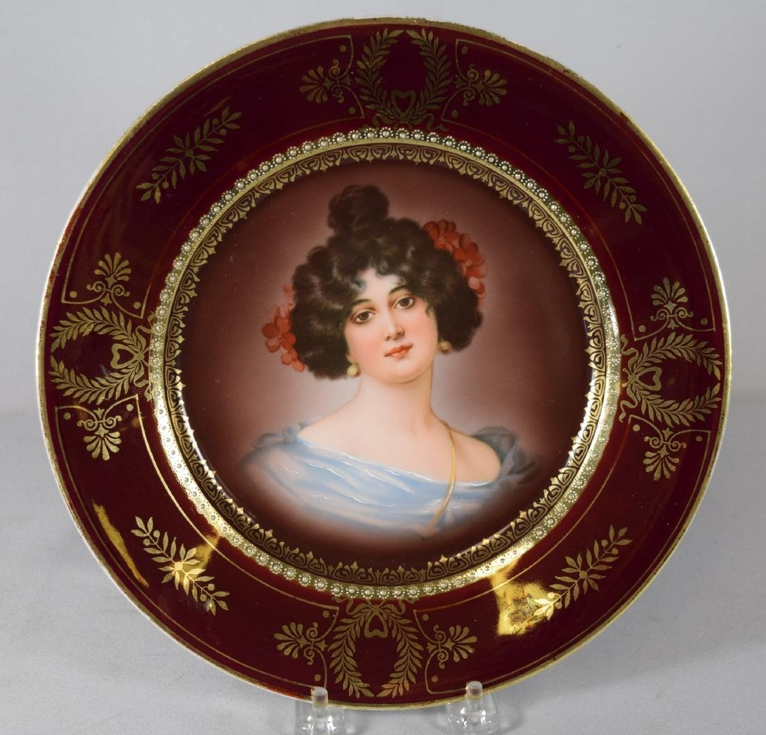 ROYAL VIENNA BEEHIVE PORTRAIT PLATE: