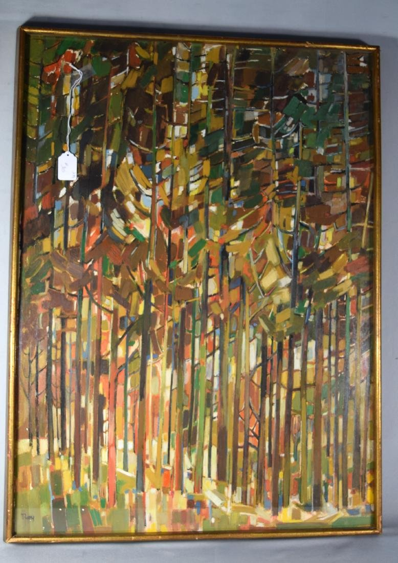ABSTRACT FOREST PAINTING: