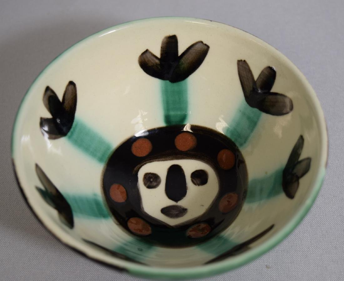 PABLO PICASSO EARTHENWARE VISAGE FACE BOWL: