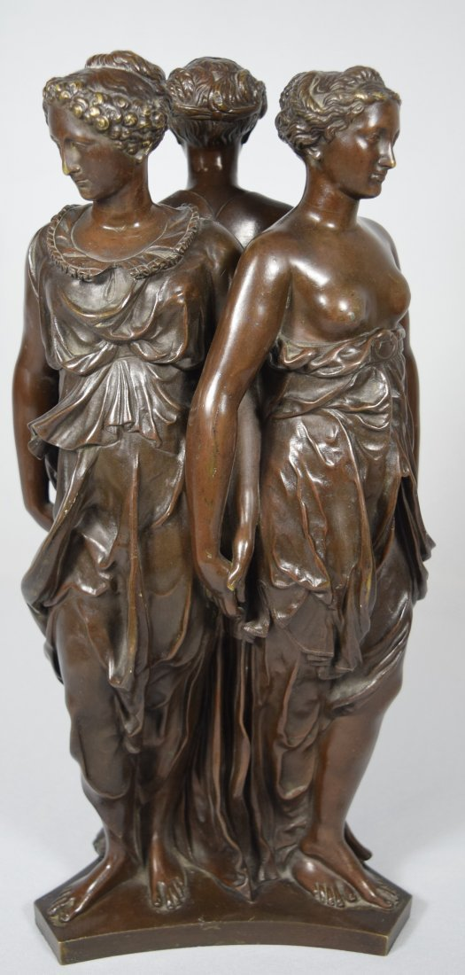 19TH C BRONZE AFTER GERMAINE POLIN THREE GRACES: - 3