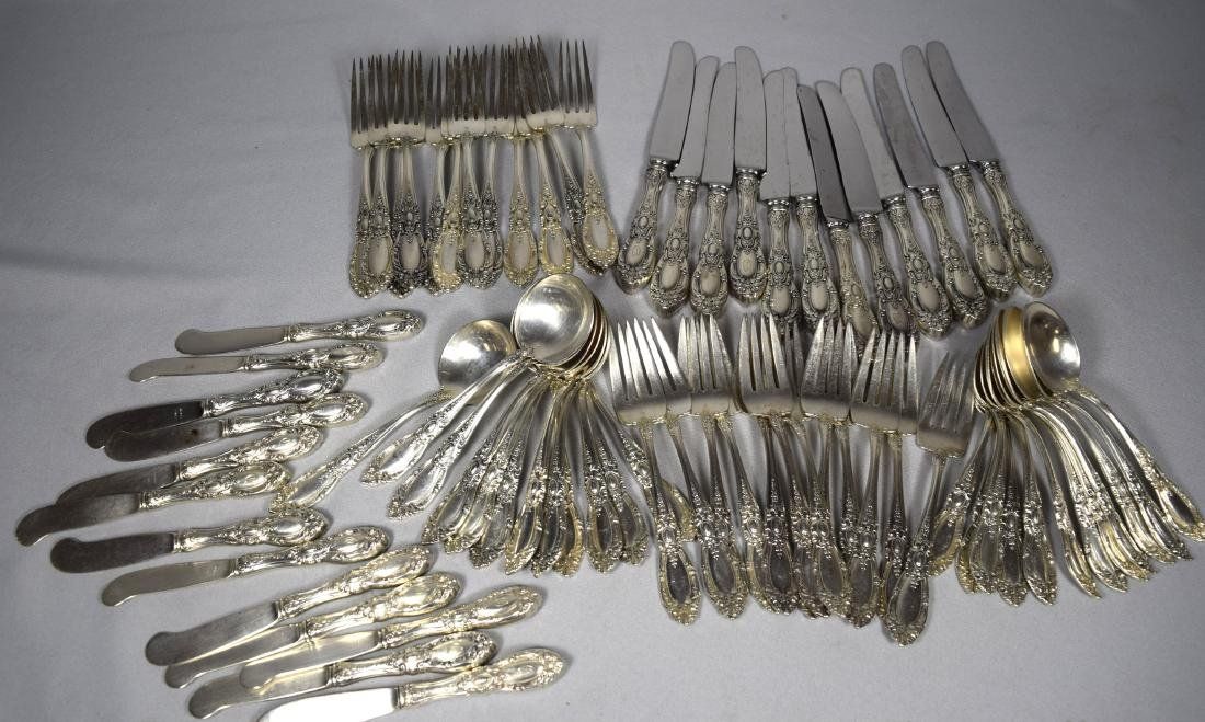 73 PIECES TOWLE STERLING SILVER FLATWARE SERVICE FOR TW