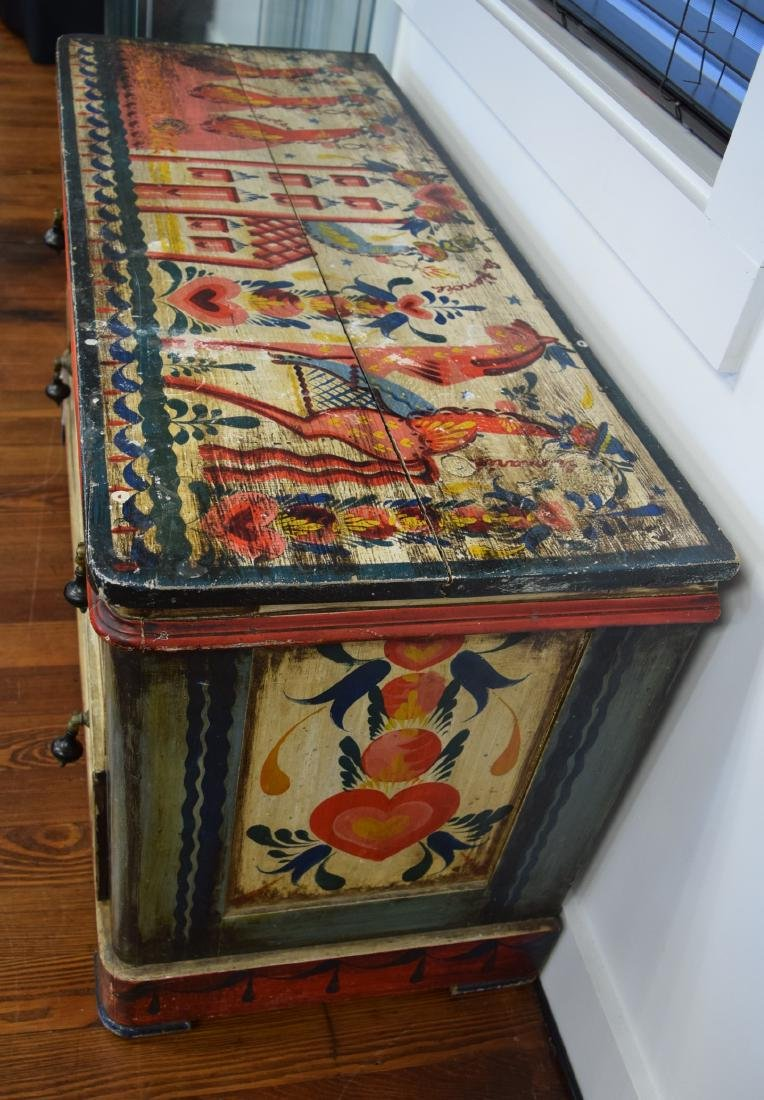 PETER HUNT DECORATED PAINTED TWO DRAW CHEST: - 5