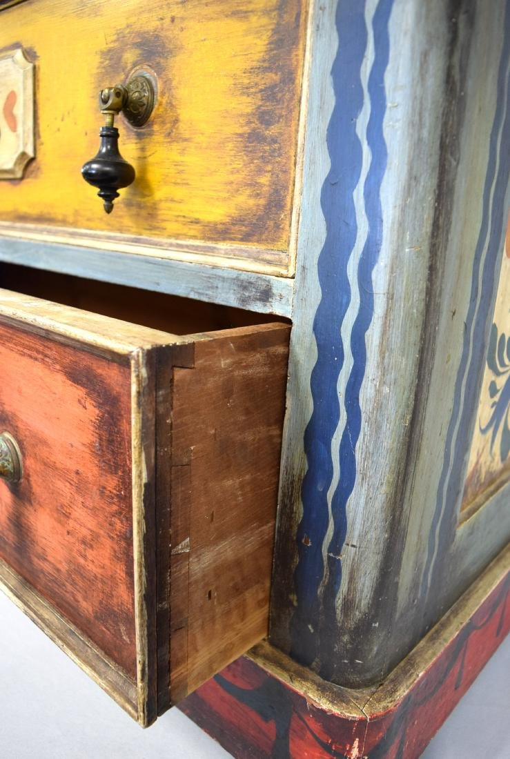 PETER HUNT DECORATED PAINTED TWO DRAW CHEST: - 7
