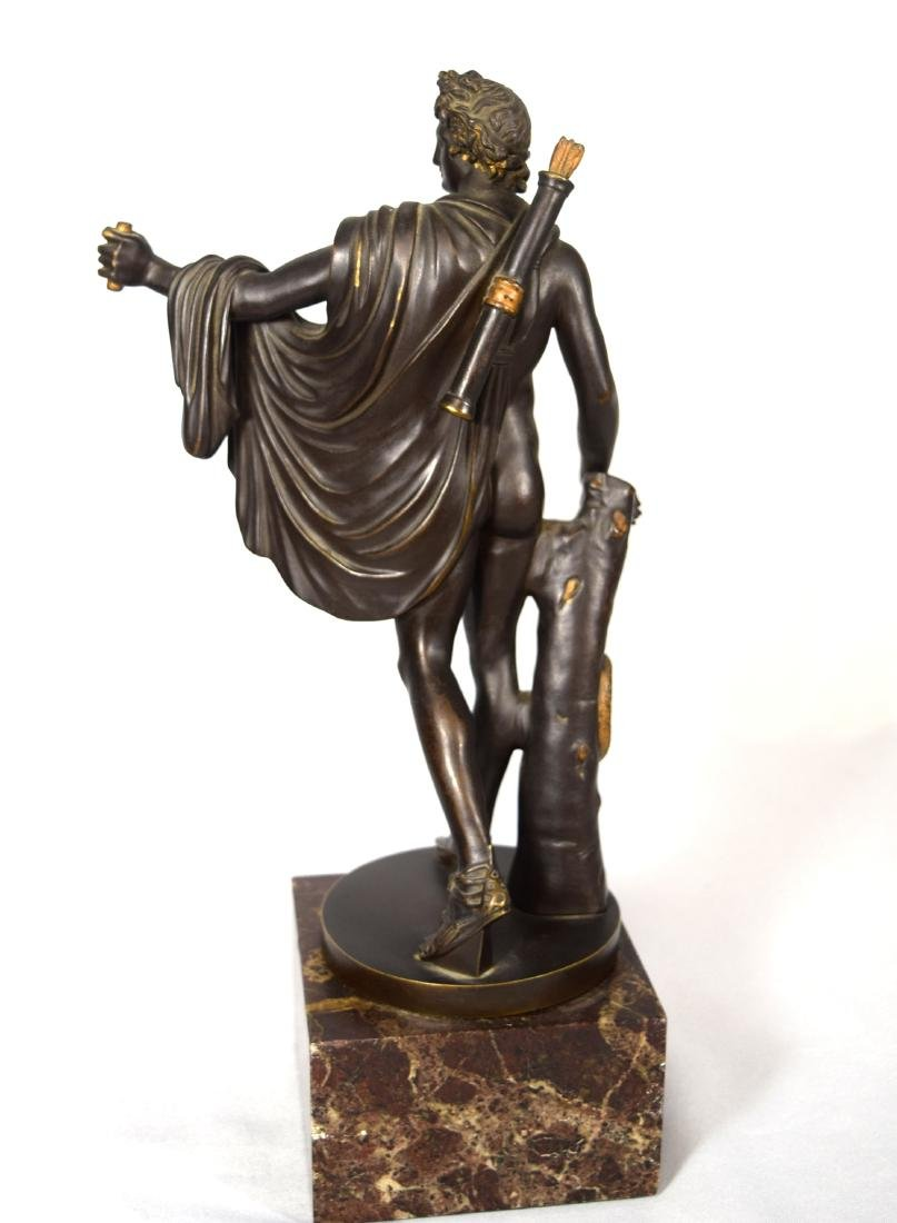 LATE 19TH C BRONZE AFTER LEOCHARES SCULPTURE OF APOLLO - 2
