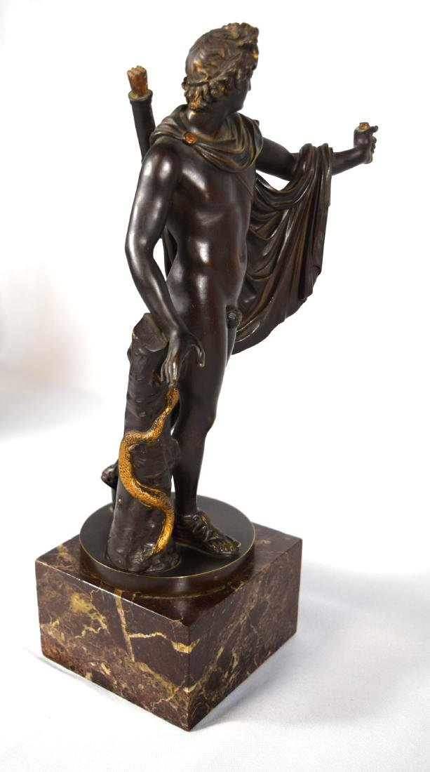 LATE 19TH C BRONZE AFTER LEOCHARES SCULPTURE OF APOLLO - 4