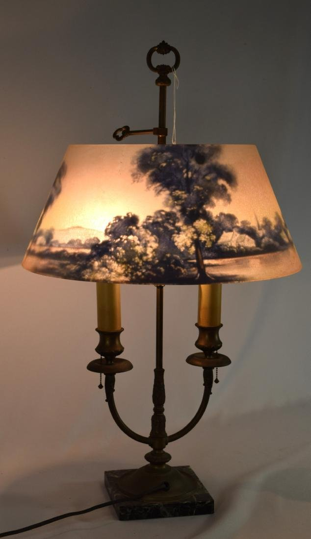 PAIRPOINT REVERSE PAINTED TABLE LAMP: