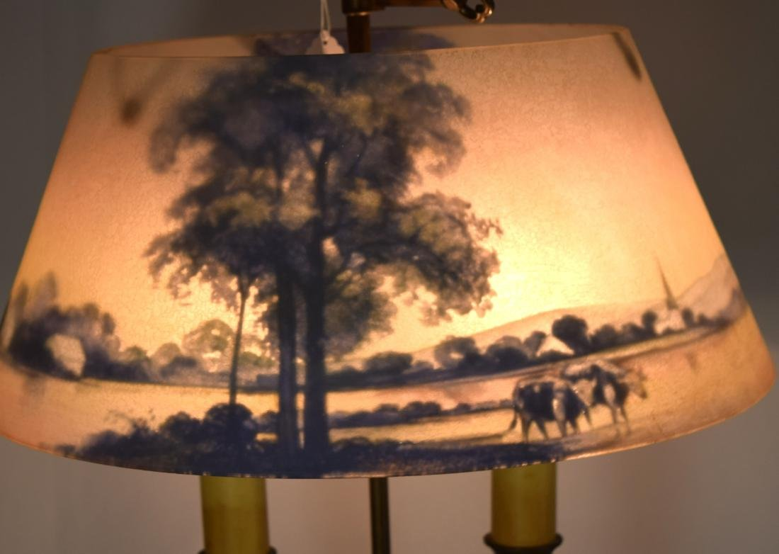 PAIRPOINT REVERSE PAINTED TABLE LAMP: - 4