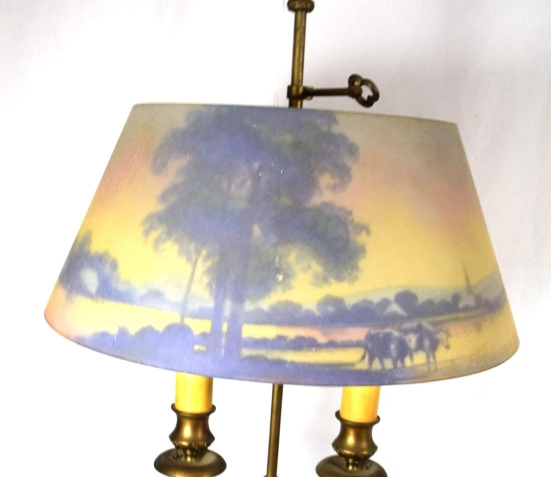 PAIRPOINT REVERSE PAINTED TABLE LAMP: - 6