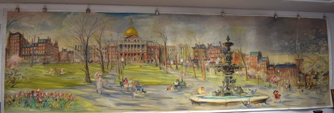 ORIGINAL WALL MURAL BY KAMIL KUBIK BOSTON SCENES FROM
