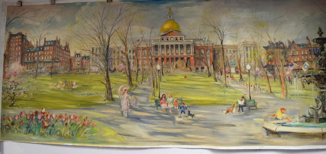 ORIGINAL WALL MURAL BY KAMIL KUBIK BOSTON SCENES FROM - 2
