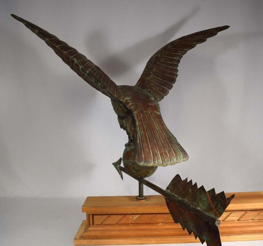 COPPER FULL BODY EAGLE WEATHERVANE: - 4
