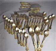 REED & BARTON STERLING SILVER PARTIAL FLATWARE SET: