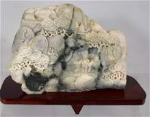 CHINESE MOUNTAIN SOAPSTONE CARVING